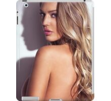Sexy glamorous woman with blond hair beauty portrait art photo print iPad Case/Skin