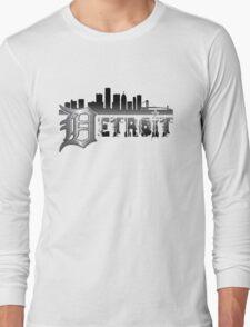 Detroit Cityscape Mens Long Sleeve T-Shirt