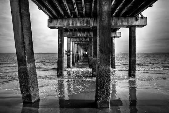 Under the Steeplechase Pier, Coney Island NY 2009 by Carlos Restrepo
