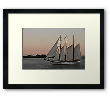 The Empire Sandy in a Pastel Sunset Framed Print