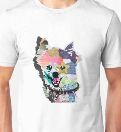 Pomeranian Mixed Media Collage Unisex T-Shirt