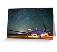 RFDS Evac Under a Starry Southern Sky - Tjuntjuntjara, Great Victoria Desert, WA - Take 1 Greeting Card