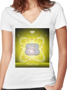 Remix 2 Women's Fitted V-Neck T-Shirt