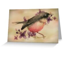 Feathers and Flowers Greeting Card