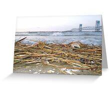 Marine Park Bridge NY Greeting Card