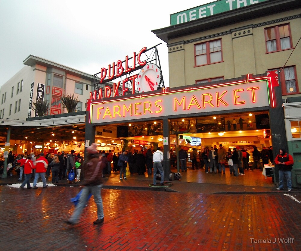 Pike Place Market by Tamela J Wolff