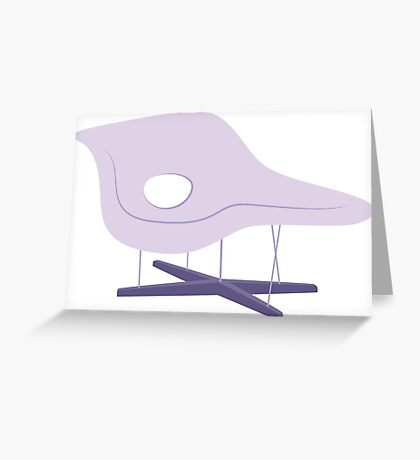 Ray & Charles Eames Chaise Lounge Chair Classic Design Greeting Card