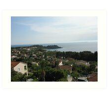 Coastal Town in Kefalonia Art Print