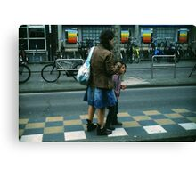 Waiting For The Bus Canvas Print