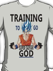 Training to go Super Saiyan God T-Shirt