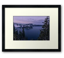 Crater Lake, Crater Lake National Park, Klamath County, Oregon, USA Framed Print