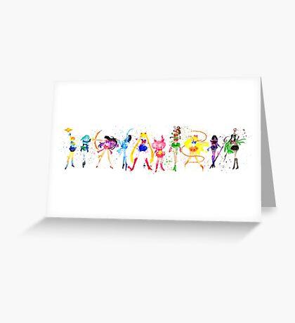 Watercolor Senshi Greeting Card