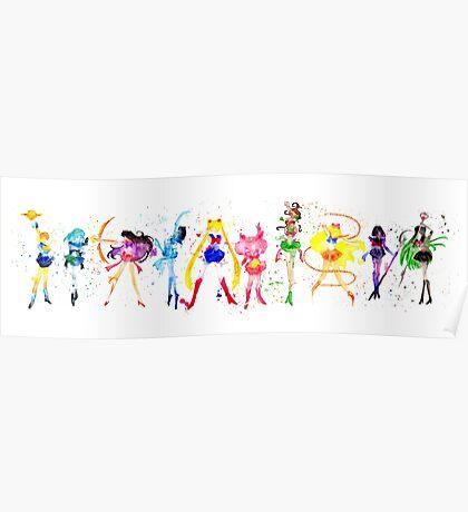 Watercolor Senshi Poster