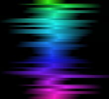 BRIGHT COLOR DIGITAL SOUND WAVES by butterflyscream