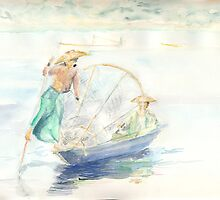 Asian Fishers by J-C Saint-Pô