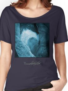 Trümmelbachfälle: cyan 3 (T-Shirt) Women's Relaxed Fit T-Shirt