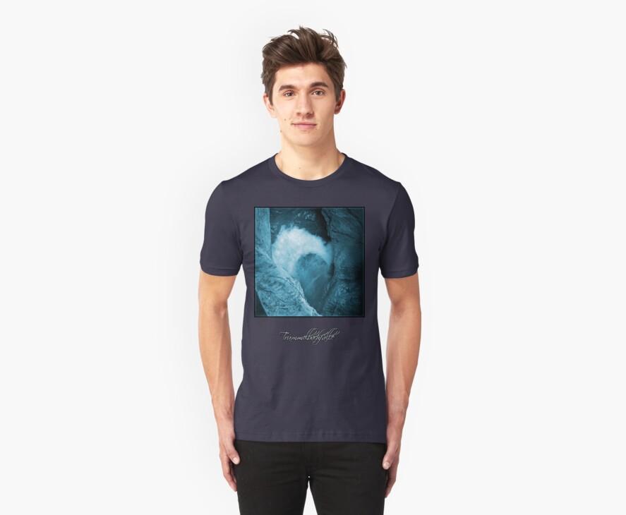 Trümmelbachfälle: cyan 3 (T-Shirt) by Lenka