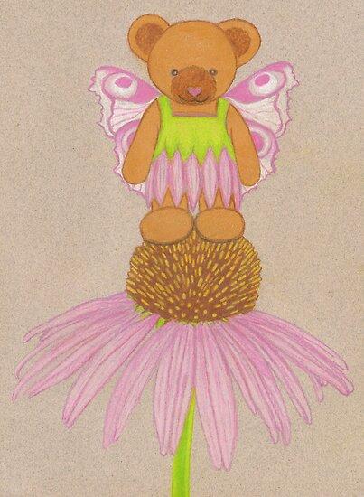 Fairy Bear on Flower  by Paula Parker