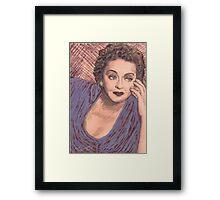 BETTY DAVIS PORTRAIT IN INK Framed Print