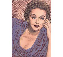 BETTY DAVIS PORTRAIT IN INK Photographic Print