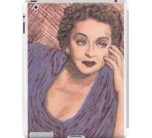 BETTY DAVIS PORTRAIT IN INK iPad Case/Skin