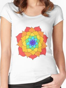 Rainbow Flower Women's Fitted Scoop T-Shirt