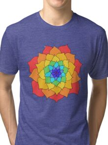Rainbow Flower Tri-blend T-Shirt