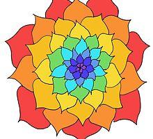 Rainbow Flower by yavie