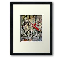 Red Ribbon Message Framed Print