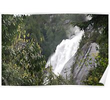 Shannon Falls in Shannon Falls Provincial Park - B.C. Poster
