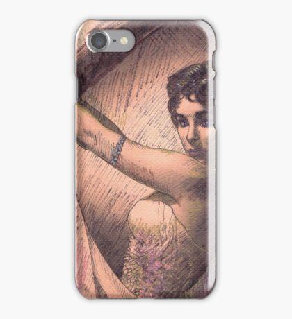 ELIZABETH TAYLOR PORTRAIT IN INK iPhone Case/Skin