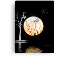 Super Moon Light (T-Shirt) Canvas Print