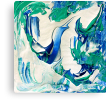 Blue Sky Design, Abstract Blue and White Artwork Canvas Print