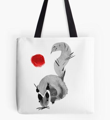 watercolor squirrel. Watercolor hand drawn brush vector  Tote Bag