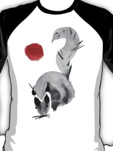 watercolor squirrel. Watercolor hand drawn brush vector  T-Shirt