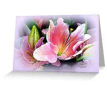 Lily Sunset Greeting Card