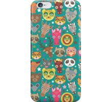 funny animals muzzle iPhone Case/Skin