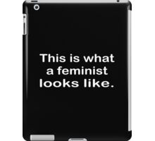 This is what a feminist looks like funny geek nerd iPad Case/Skin