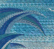 The Churning (embroidered seascape) Sticker