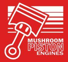 Mushroom Piston Engines Kids Tee