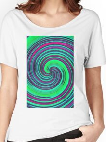 Psychedelic Retro Swirl Women's Relaxed Fit T-Shirt