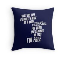 The Fast And The Furious - I Live My life Throw Pillow