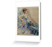 PASTEL PORTRAIT OF A WOMAN Greeting Card