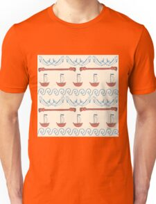 Seamless sea pattern. Vector illustration with marine elements. Unisex T-Shirt