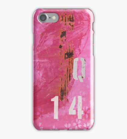 Trashed, scratched, rusted and dented - Q 14 Pink iPhone Case/Skin