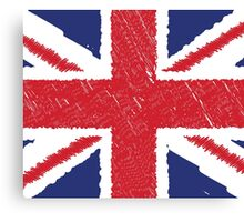 UK Union Jack Scribble Abstract Flag Background Canvas Print