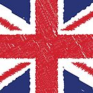 Union Jack Scribble Abstract Flag Background by CroDesign