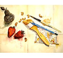 Still Life With Strawberry Photographic Print