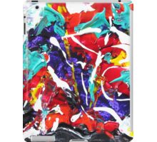 Colorful Abstract Design,Bold Contemporary Art, Rainbow Colors iPad Case/Skin