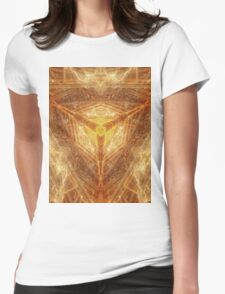 Sacred Geometry 04 - Psychedelic Cube Womens Fitted T-Shirt